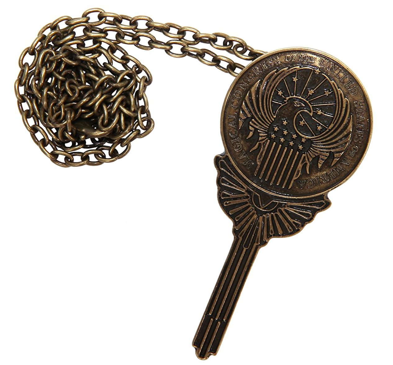 Fantastic Beasts MACUSA Costume Pin Pendant with Chain