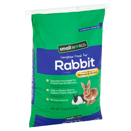 Bunny Food (Small World Complete Feed for Rabbits, 25)