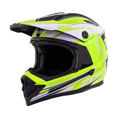 ZOX RUSH LUCID - Junior Youth Street Motocross Dirt Off-Road Motorcycle Helmet - Yellow - image 3 de 3