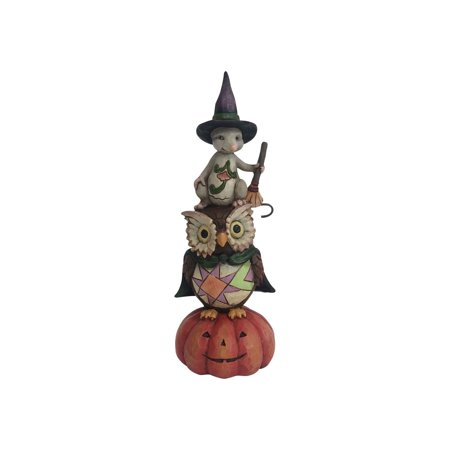 Jim Shore Ghost and Goblins Gather Here Halloween Stacked Figurine 4058848 New - Jim Halpert Halloween