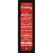 "Georgia Bulldogs Family Cheer Print 8""x24"""