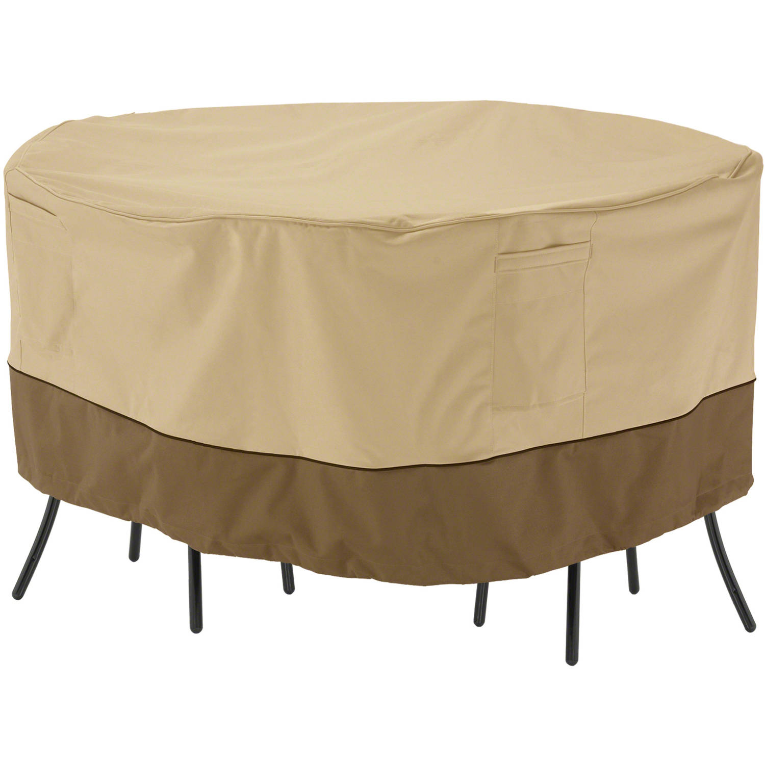 "Classic Accessories Veranda Patio Round Bistro Table and Chair Set Furniture Storage Cover, fits up to 54"" diameter"