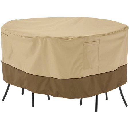 Classic Accessories Veranda Patio Round Bistro Table and Chair Set Furniture Storage Cover, fits up to 54