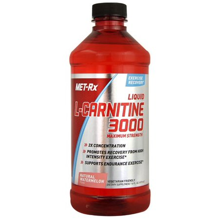 MET-Rx Liquid L-Carnitine 3000 Maximum Strength, Watermelon, 16