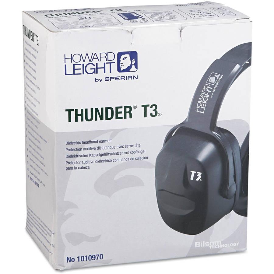 Howard Leight by Honeywell - Thunder T3 Dielectric Earmuffs, 30NRR, Black