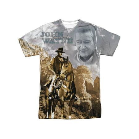 John Wayne Hollywood Icon Actor Ride Em Cowboy Adult 2-Sided Print T-Shirt -