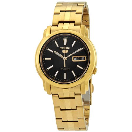 - Series 5 Automatic Black Dial Mens Watch SNKL88