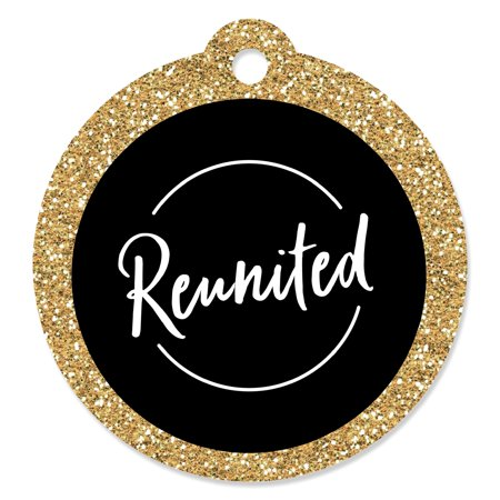 Reunited - School Class Reunion Party Favor Gift Tags (Set of 20) - Print Tags For Favors