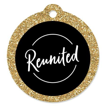 Reunited - School Class Reunion Party Favor Gift Tags (Set of 20) - Class Reunion Decorations