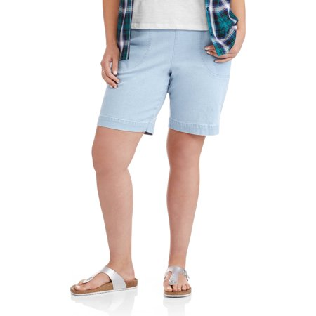 5490329126 Just My Size - Women's Plus-Size 2 Pocket Pull-On Shorts - Walmart.com