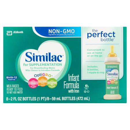 Similac ® pour Supplémentation Formula nourrissons contenant du fer fl 8-2. onces. Bouteilles