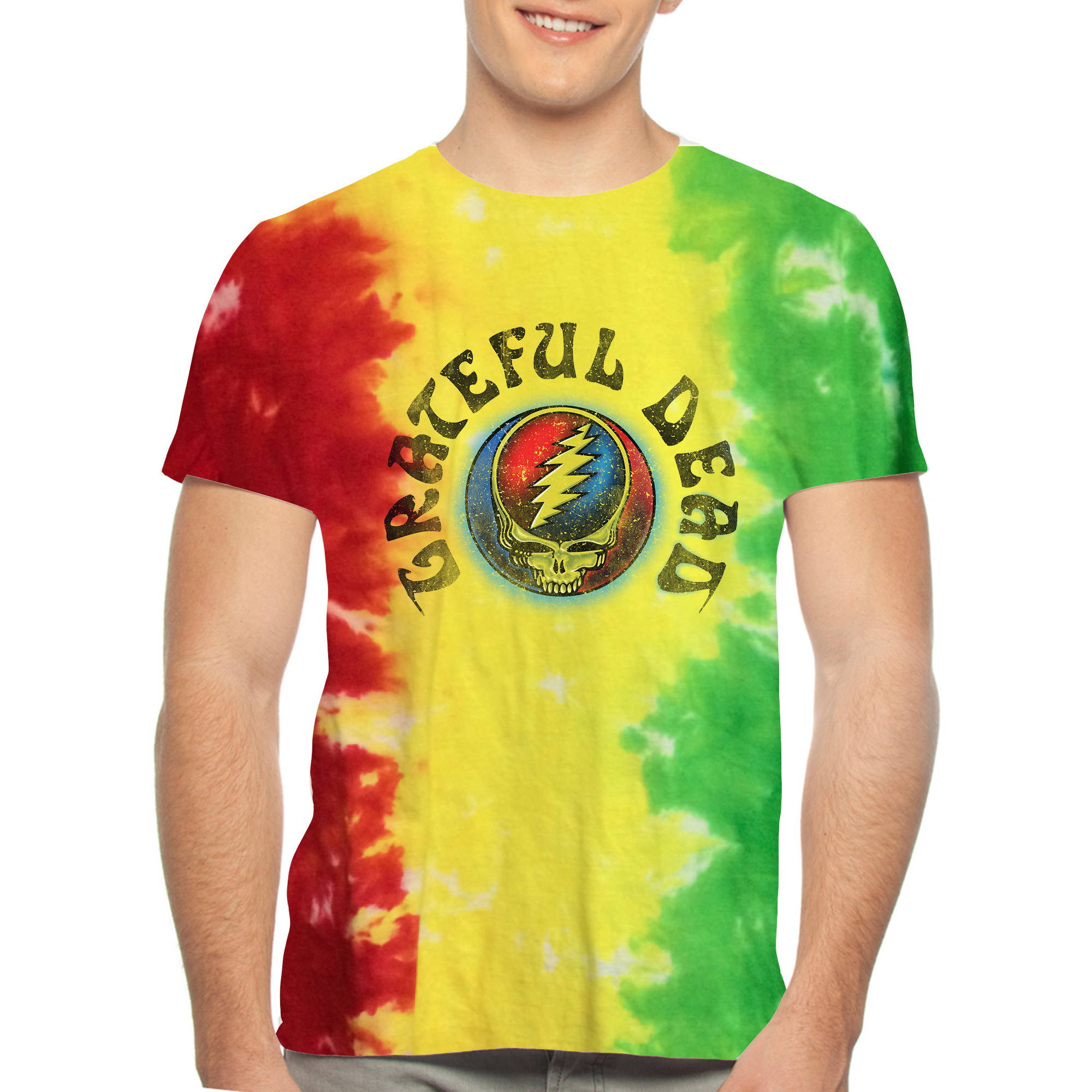 Grateful Dead Men's Tie Dye Graphic Tee
