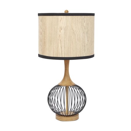 Better homes gardens metal cage faux wood table lamp mulitple finishes