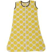 Bacati - Ikat Dots 100% Cotton breathable Muslin Sleep Sack, Yellow