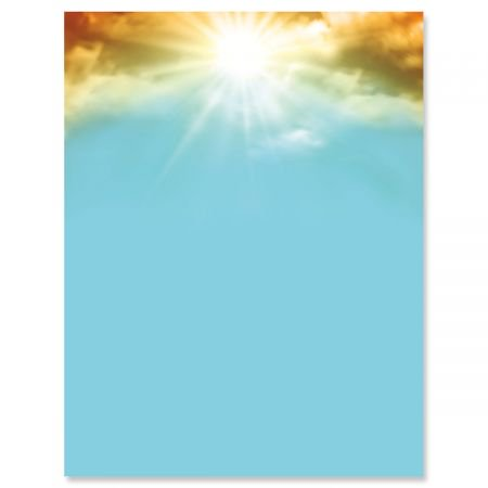 Easter Paper (Sunrise Easter Letter Papers - Set of 25 spring stationery papers are 8 1/2