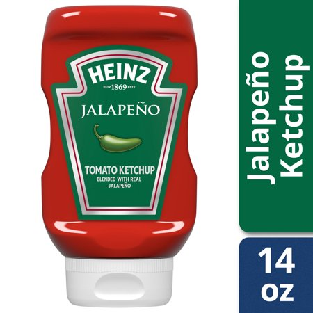 Ketchup Bottle Sizes ((2 Pack) Heinz Jalapeno Tomato Ketchup, 14 oz)