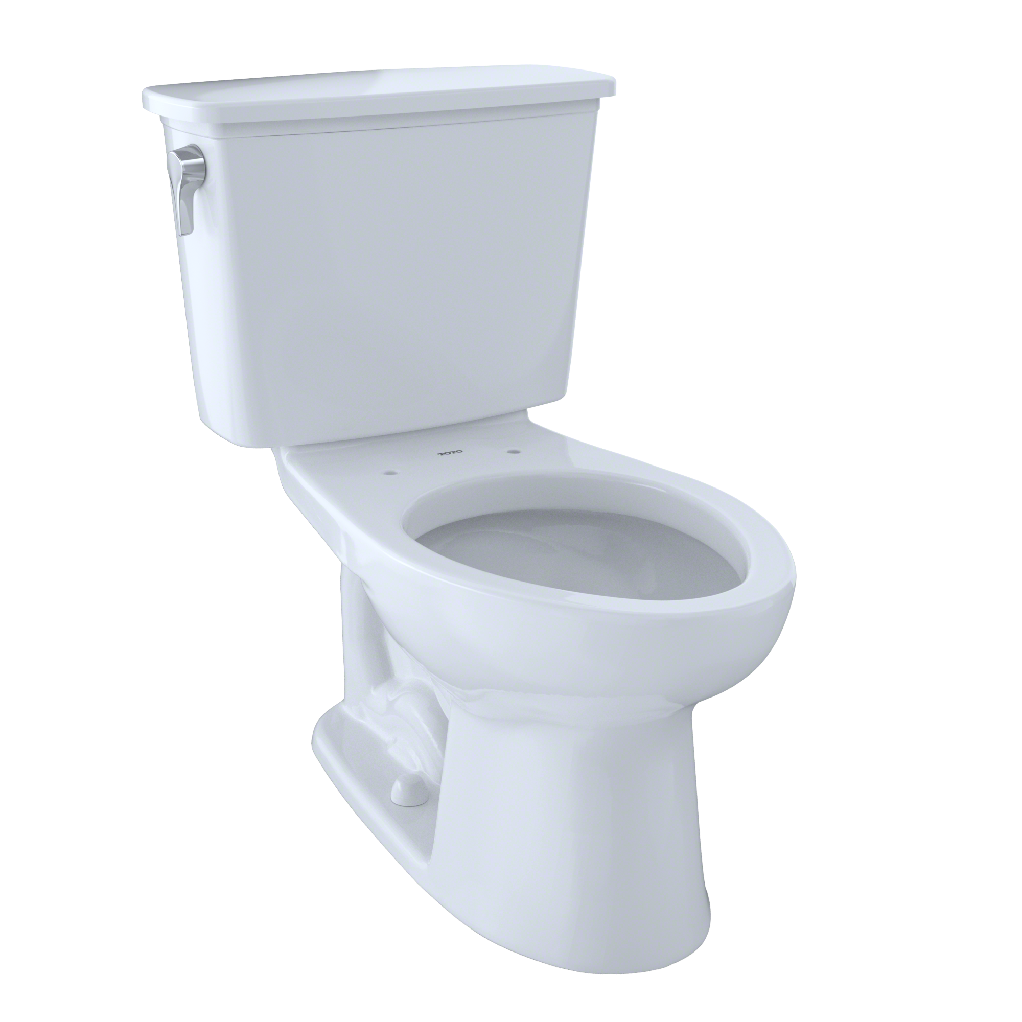 TOTO® Eco Drake® Transitional Two-Piece Elongated 1.28 GPF Toilet, Cotton White - CST744EN#01