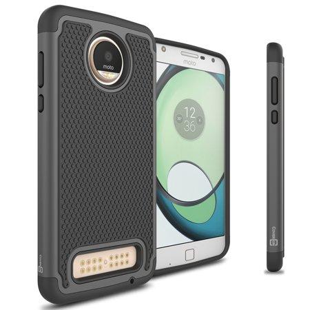 CoverON Motorola Moto Z2 Play Case, HexaGuard Series Hard Phone Cover Boch Play Green Garden