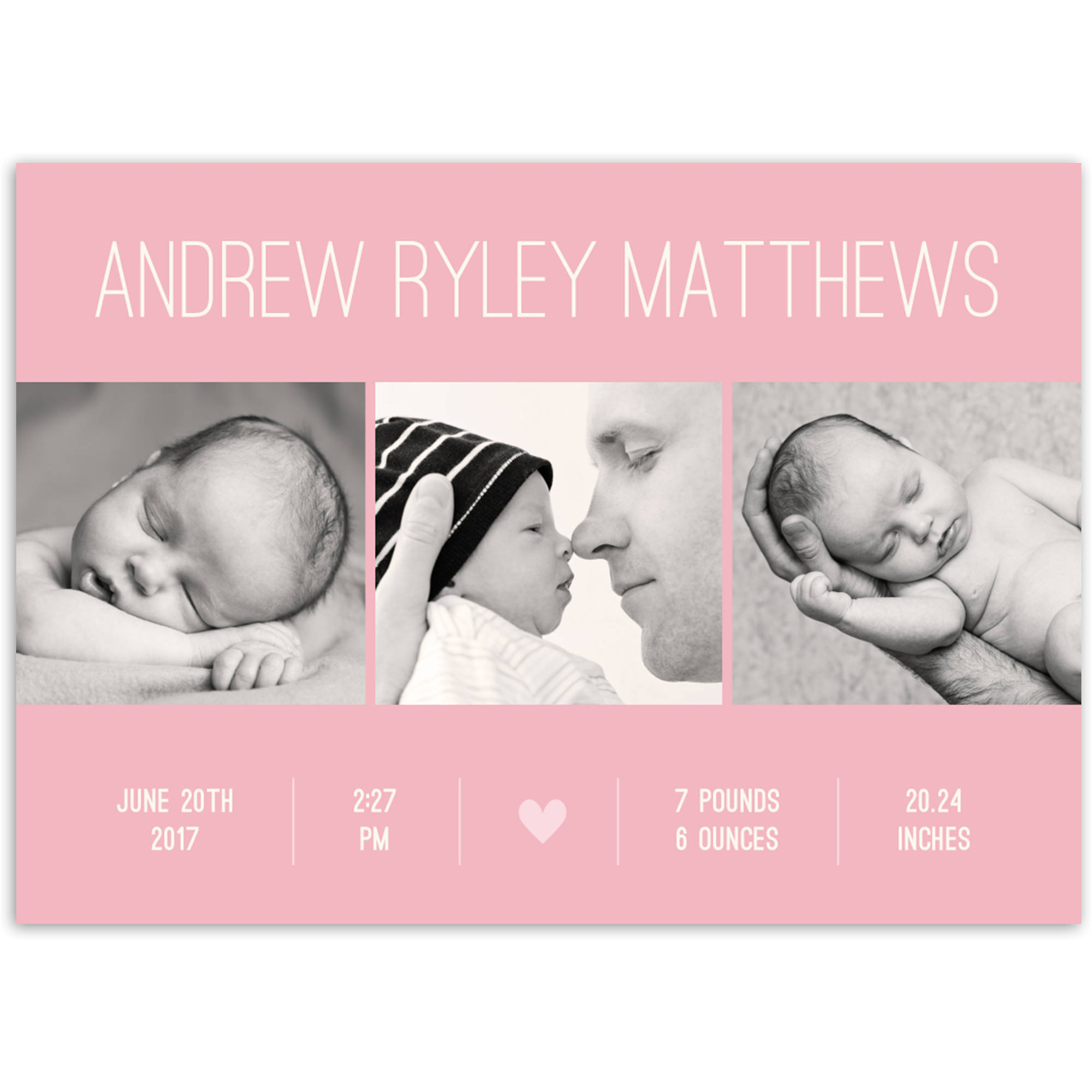 Contemporary Name Baby Announcement