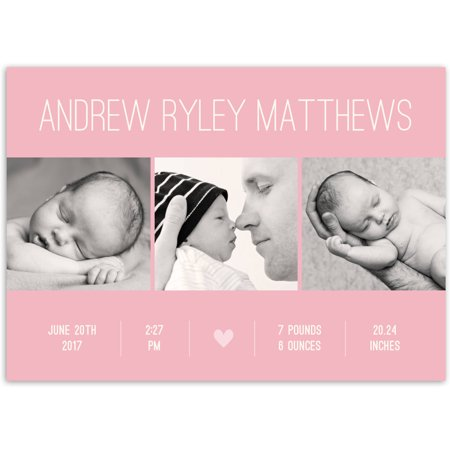 Contemporary Name Baby Announcement (Best Baby Announcement Ideas)