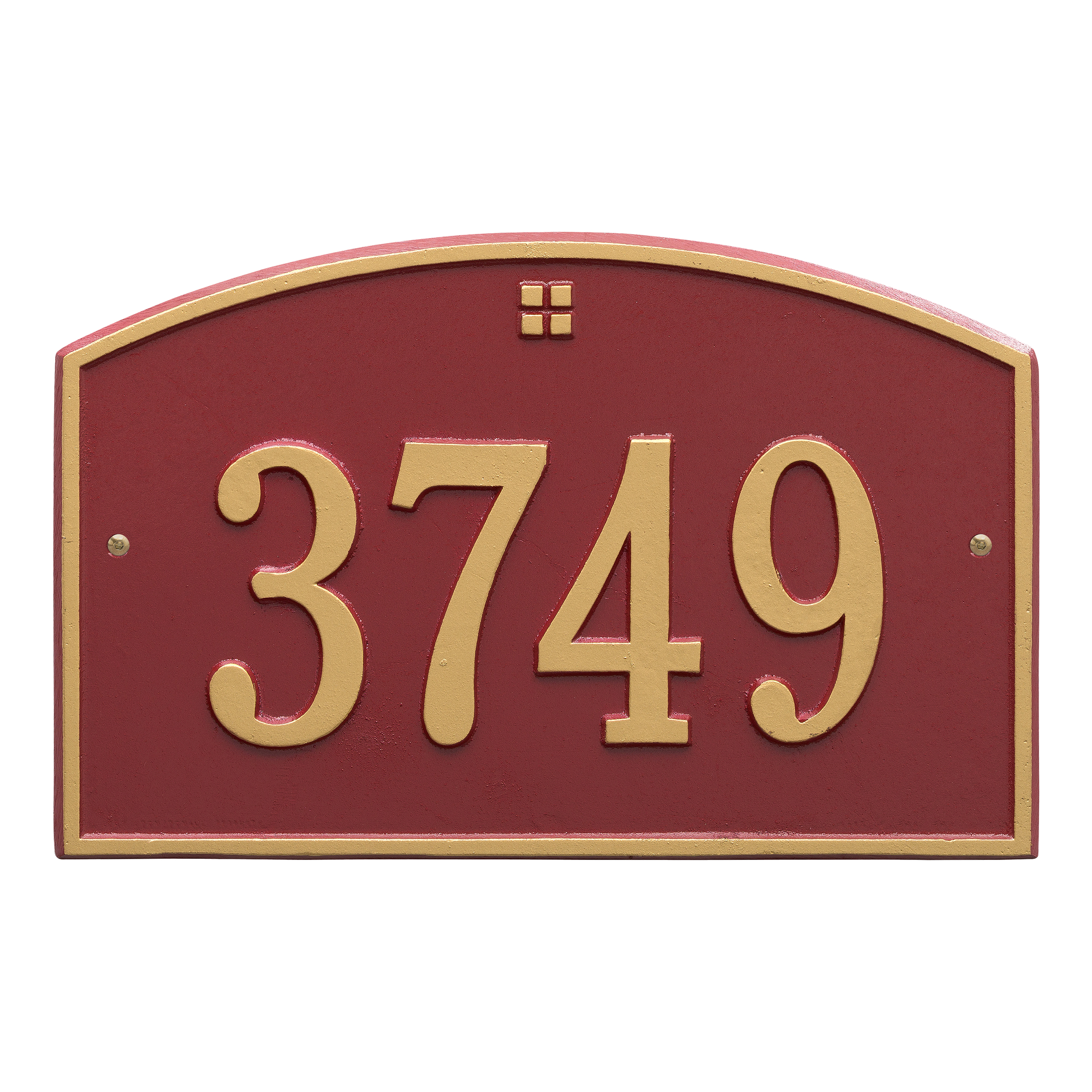 Personalized Whitehall Products Cape Charles 1- Line Address Plaque in Red Gold by Whitehall