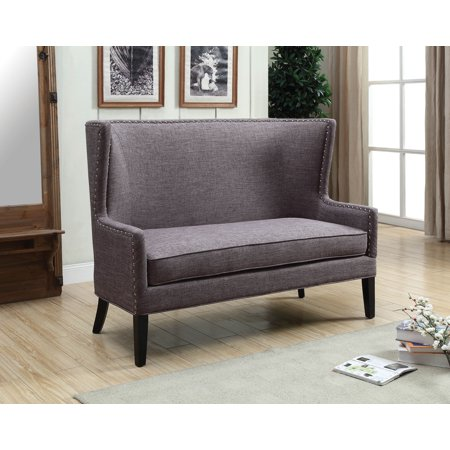 Furniture of America Monte Carlo Nailhead Gray Dining Bench Monte Carlo Game Table
