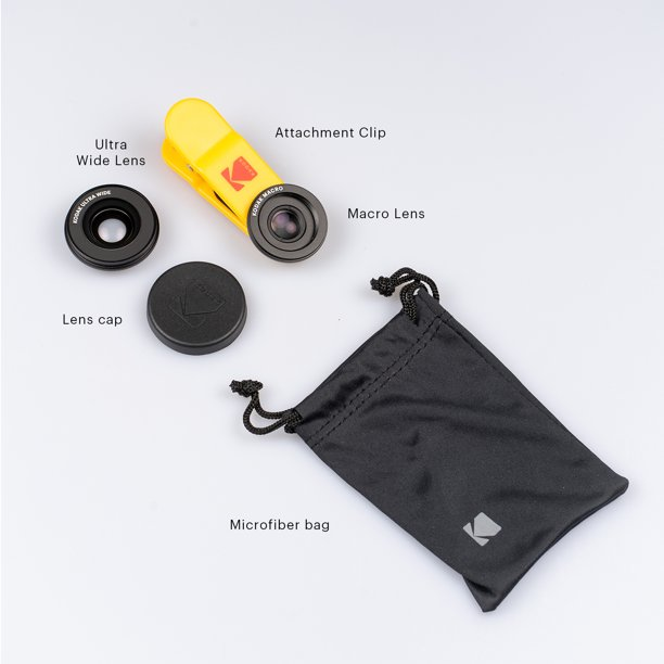 KODAK Smartphone 2-in-1 Lens Set Ultra Wide + Macro ...