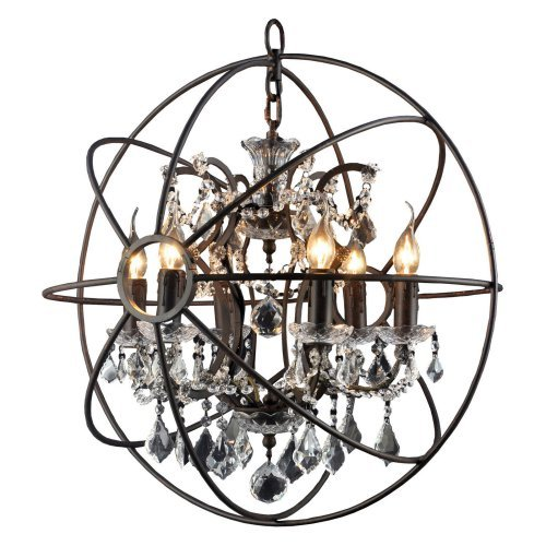 Yosemite Home Decor Groveland 6 Light Crystal Chandelier