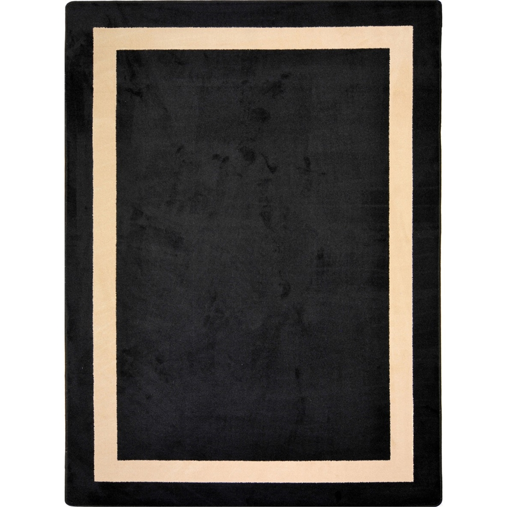 "Kid Essentials - Misc Solid Color Area Rugs Portrait, 3'10"" x 5'4"", Onyx"