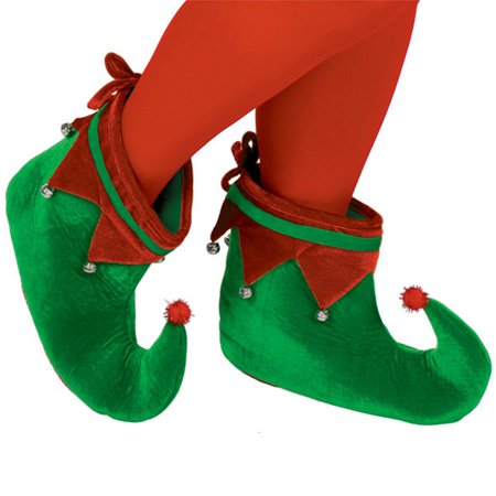 Elf Shoes For Sale (Adult Plush Elf Shoes One Size with Jingle)