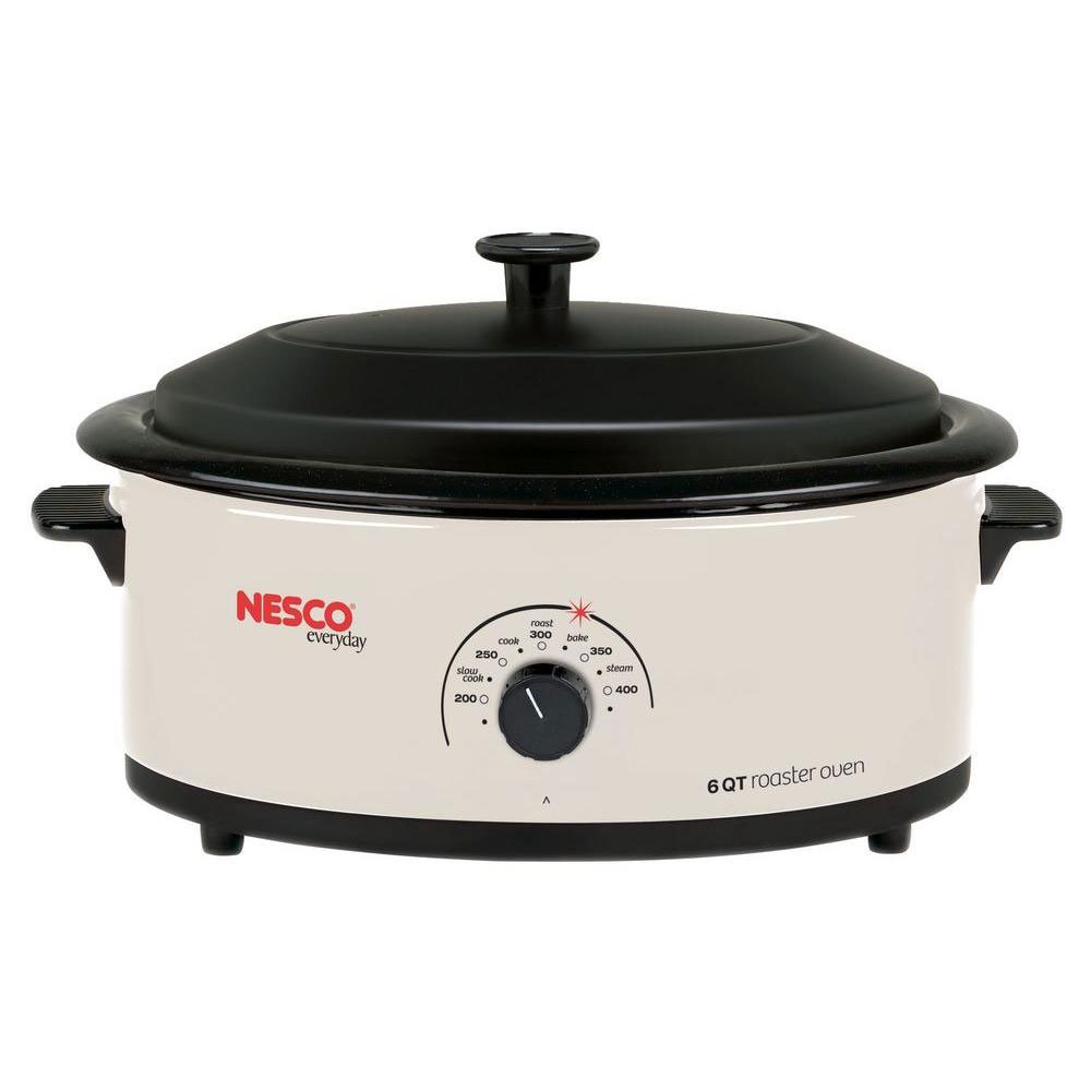 Nesco 6 Qt. Ivory Roaster With Porcelain Cookwell