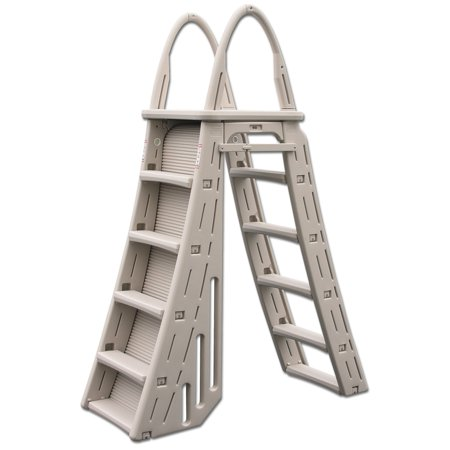 Confer Plastics A-Frame 7200 Above Ground Adjustable Pool Roll-Guard Safety Ladder Above Ground Pool Safety
