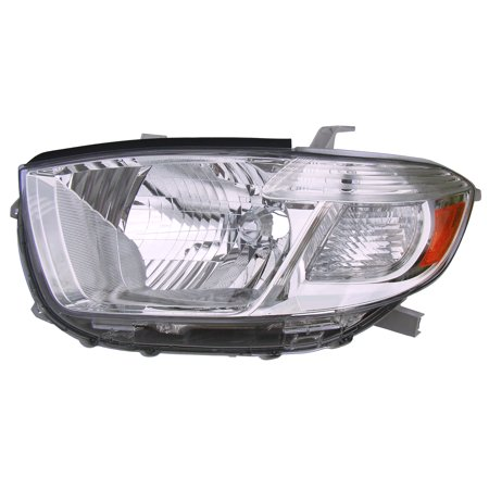 2008-2010 Toyota Highlander Base/Limited Driver Left Headlight Lamp Assembly