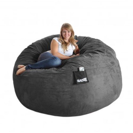 Remarkable Slacker Sack Round 6 Foot Microsuede And Foam Bean Bag 6 Caraccident5 Cool Chair Designs And Ideas Caraccident5Info