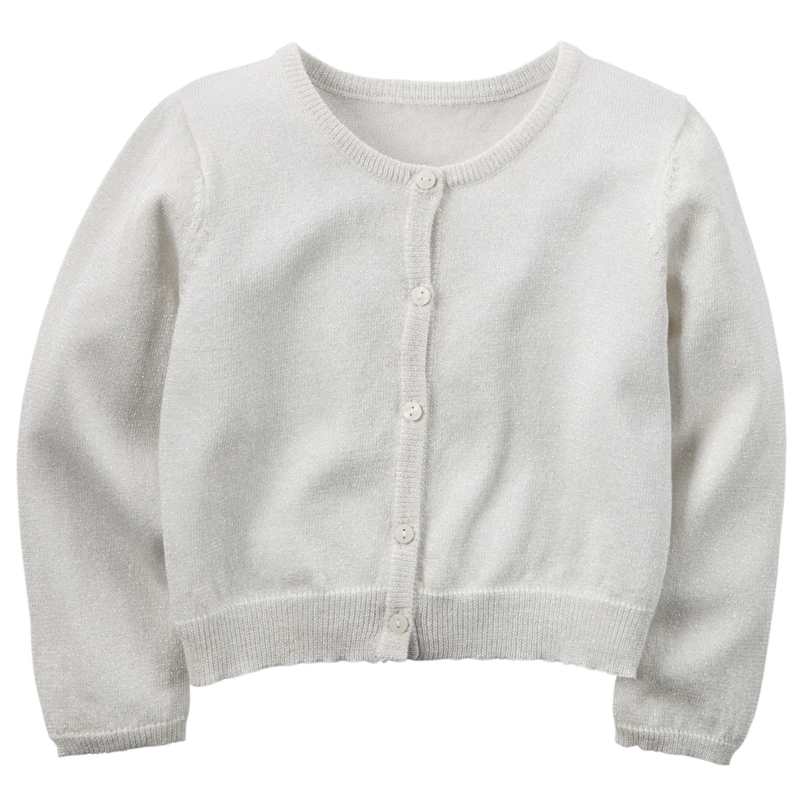 Carter's Little Girls' Sparkle Cardigan - Gray