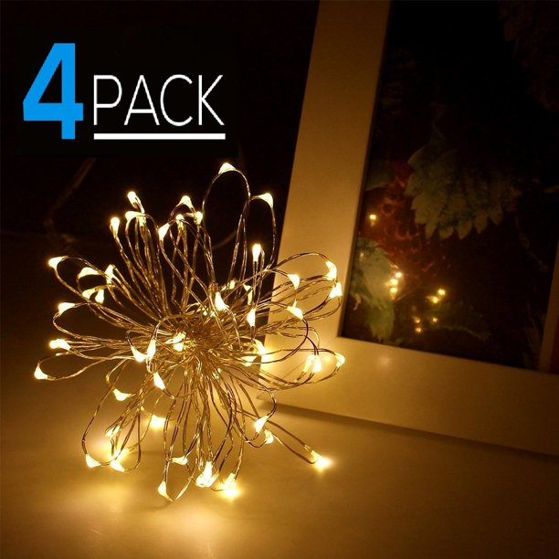 Torchstar 4 Pack 20ft 60 Leds Fairy String Lights Christmas Lights Led String Lights For Halloween Decorations Walmart Com Walmart Com,What Color Shirt Goes Well With Dark Blue Jeans