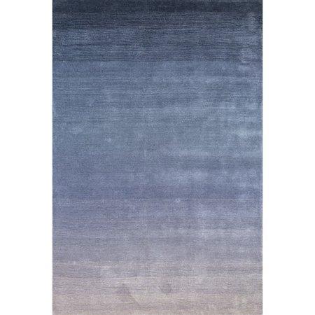 Highland Dunes Wilfredo Ombre Hand-Loomed Wool Denim Area Rug