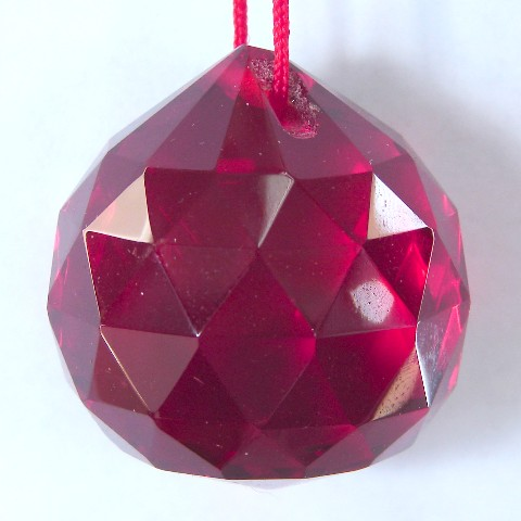 Red Hanging Crystal Balls-30mm