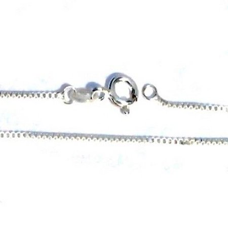 290-106 925 Sterling Silver 18 Inch 1.1mm Wide Box Neck Chain Necklace