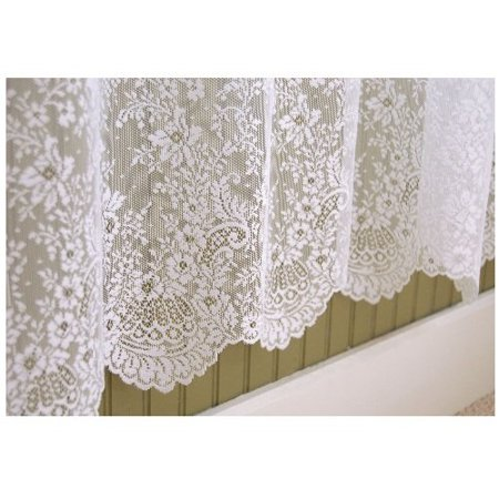 Heritage Lace Floret 60-Inch Wide by 63-Inch Drop Panel, Ecru