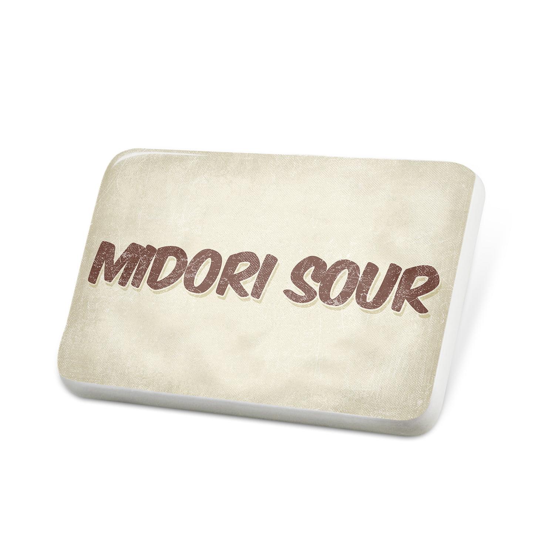 Porcelein Pin Midori Sour Cocktail, Vintage style Lapel Badge – NEONBLOND