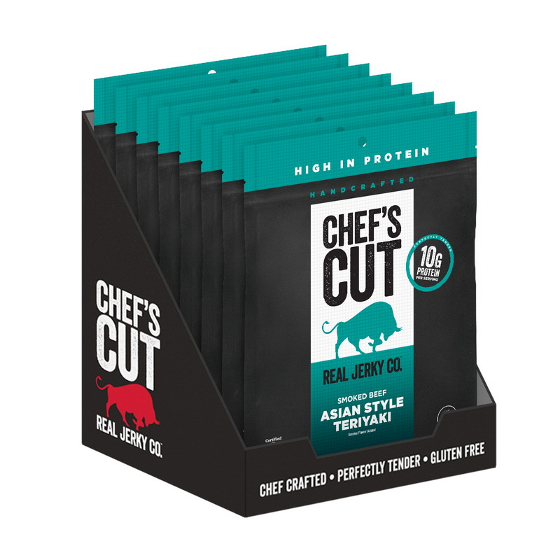Chef's Cut Real Steak Asian Style Teriyaki Smoked Beef Jerky 2.5oz (PACK OF 8)