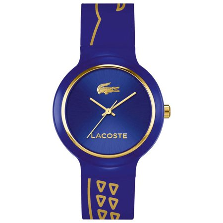 Lacoste Goa Blue Plastic Case Quartz Blue Silicone Strap Unisex Watch 2020086 (Watches Lacoste)