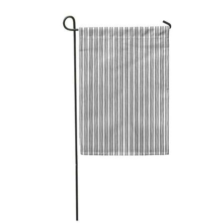 JSDART Triple Stripes Pinstripes Pattern Thin Uneven Threefold Lines Black and White Garden Flag Decorative Flag House Banner 28x40 inch - image 1 de 1