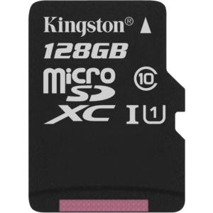 Kingston 128GB microSDXC Class 10 UHS-I 45R Flash Card without Adapter