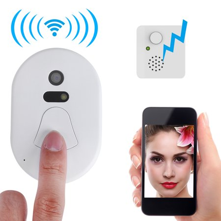 Yosoo Home Door Ring WiFi Wireless Visual Camera,Night Vision Camera Doorbell Smart Doorbell Security Monitor