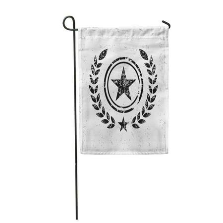 LADDKE Brown Texas Star Badge on Old Yellow Sherrif Distressed Garden Flag Decorative Flag House Banner 12x18 inch](Sherrif Badges)