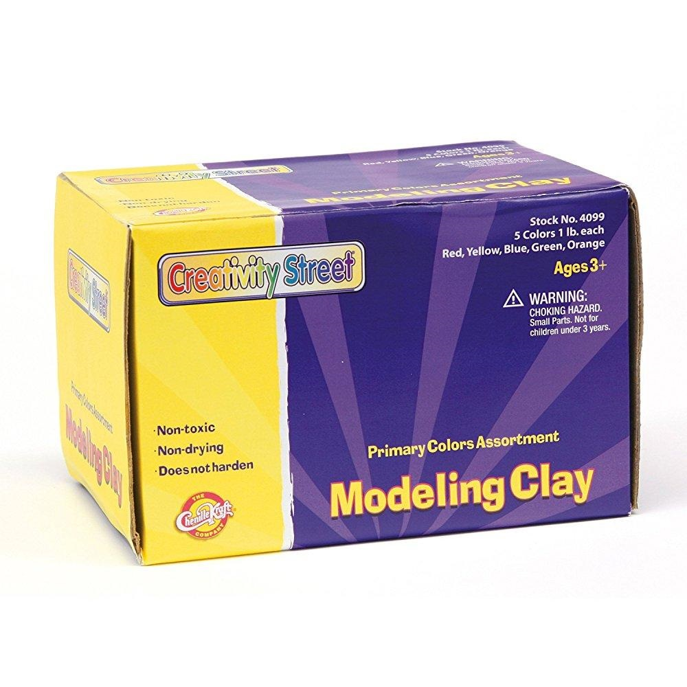 CKC4091 Chenille Kraft Creativity Street Modeling Clay 4091 Assorted Neon Colors 220 Gram