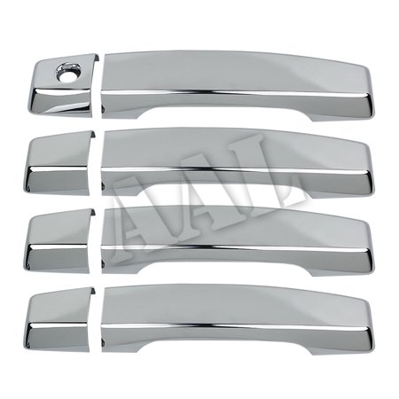AAL Premium Chrome Door Handle Cover For 2004-2014 NISSAN 04~14 Titan 4Doors Handle No Passenger - Bmw Chrome Door Handles