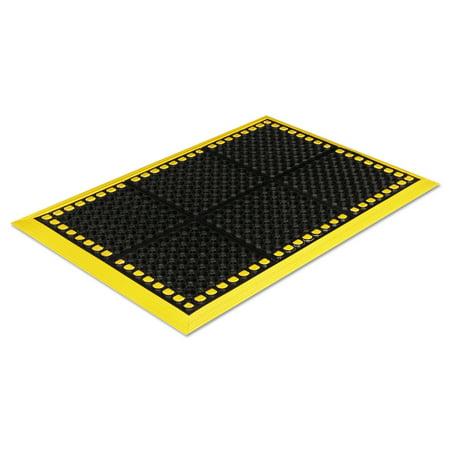 Crown Safewalk Workstations Anti-Fatigue Drainage Mat, 40 x 64, Black/Yellow -CWNWS4E64YE](Crown Station)